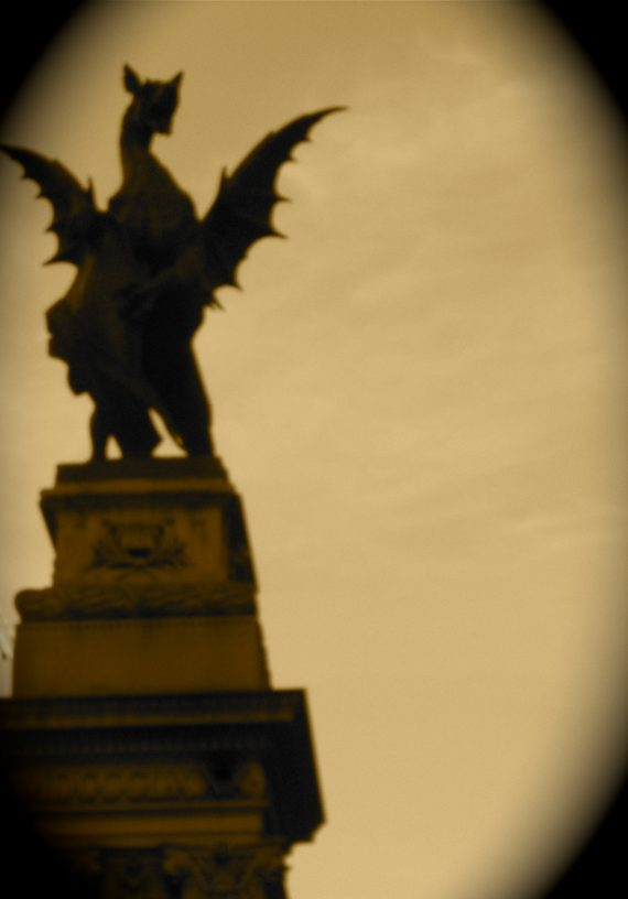 The Dragon symbol of the City, you learn, came from the myth of St. Michael...