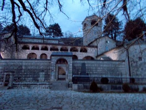 Macedonia Monestary destroyed by Turk invaders and rebuilt three times.